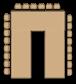 рассадка в зале типа п-форма