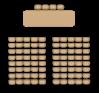 рассадка в зале типа театр